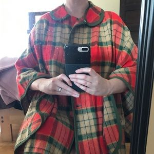 Unique blanket poncho needs some TLC